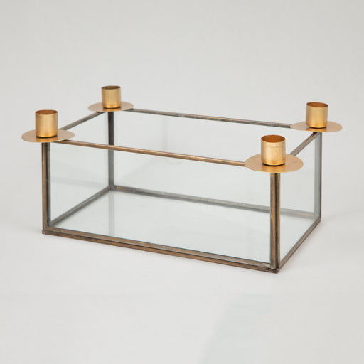 Candle Holder Glass Box