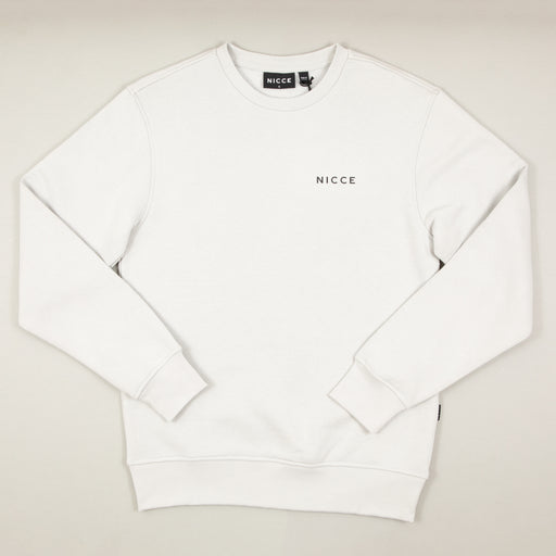 Chest Logo Sweat in STONE GREYNICCE - CACTWS