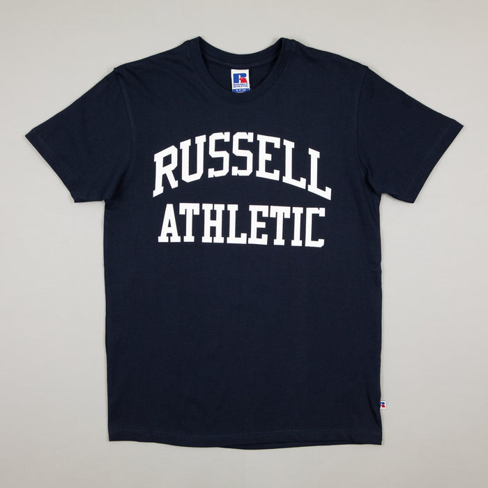 Chest Logo Tee in NAVYRUSSELL ATHLETIC - CACTWS