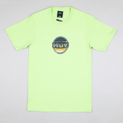 Chrome Logo T-Shirt in HUF GREEN