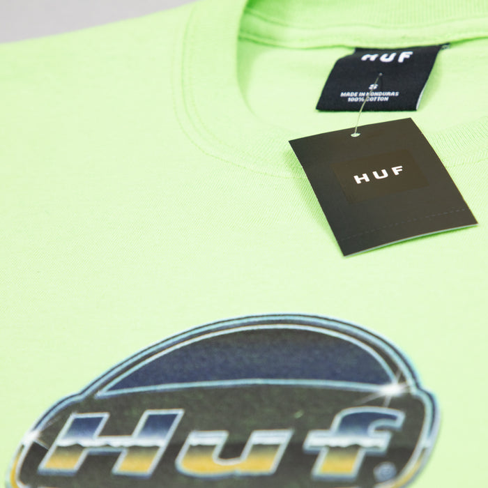 HUF Chrome Logo T-Shirt in GREEN