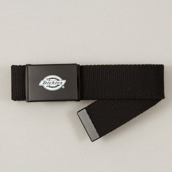 DICKIES Orcutt Webbing Logo Buckle Belt in BLACK