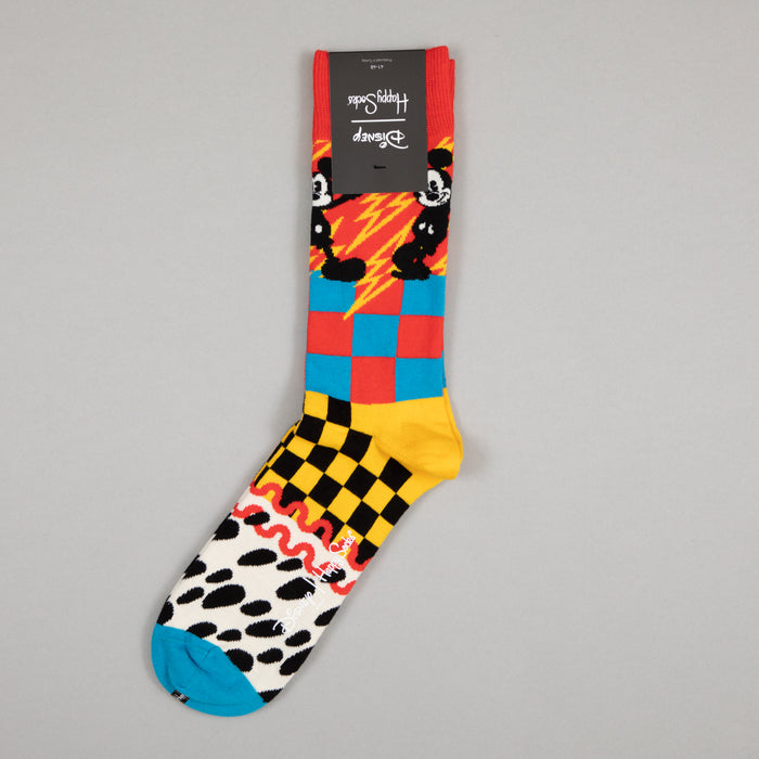 DISNEY Mickey-Time Socks in RED, YELLOW & BLUE