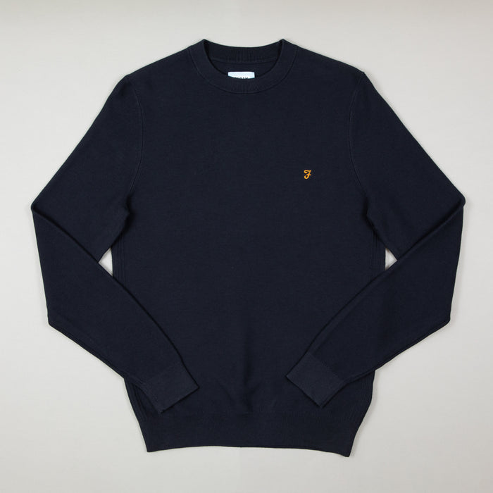 Delta Textured Sweater in TRUE NAVYFARAH - CACTWS