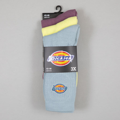 DICKIES 3-Pack Valley Grove Logo Socks in MELLOW GREEN