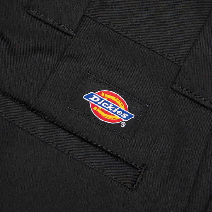 DICKIES 873 Slim Straight Work Chino Pants in BLACK