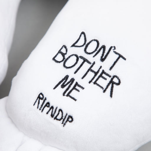 Don't Bother Me Travel Neck Pillow in WHITE