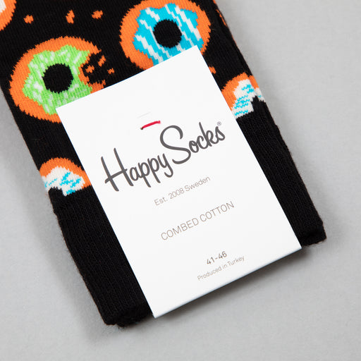 Donut Socks in BLACK, GREEN & PINKHAPPY SOCKS - CACTWS