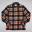 Drummond Check Overshirt in FARAH ORANGE
