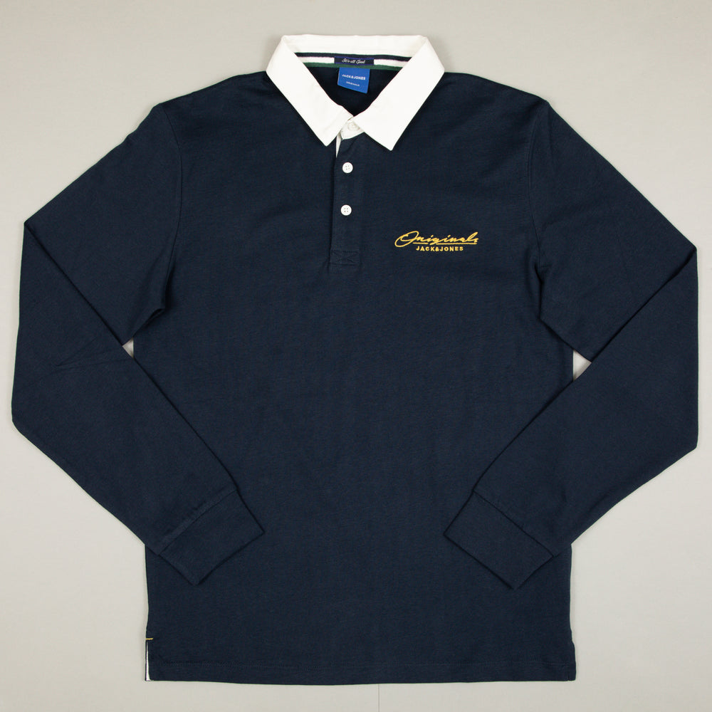 Duke Rugby Polo Long Sleeve in NAVY BLAZER
