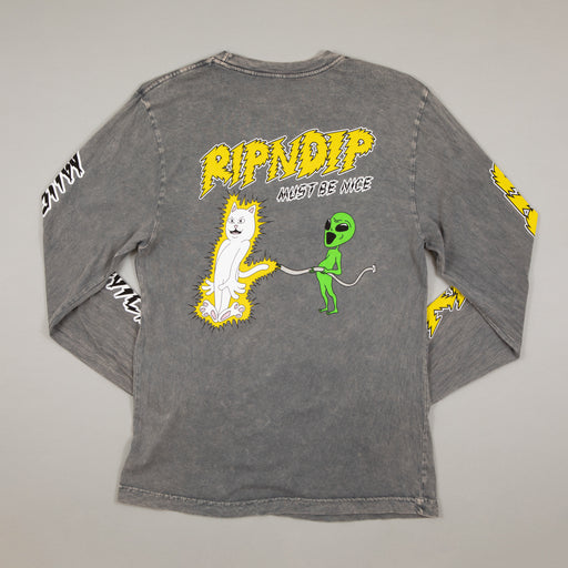 Electrify Long Sleeve Tee in GREY MINERALRIPNDIP - CACTWS