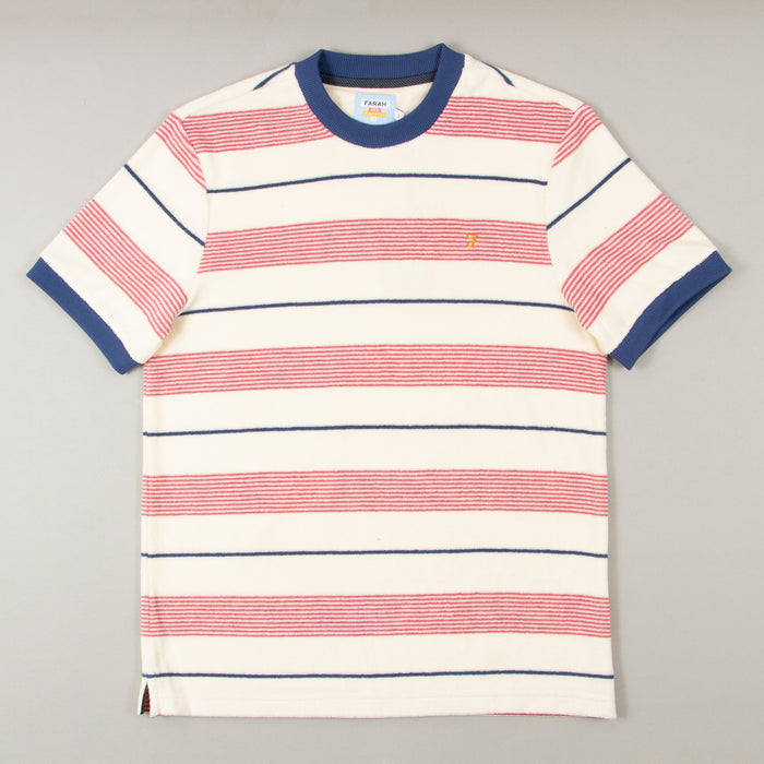 Biggs Terry Short Sleeve Tee in CREAMFARAH - CACTWS