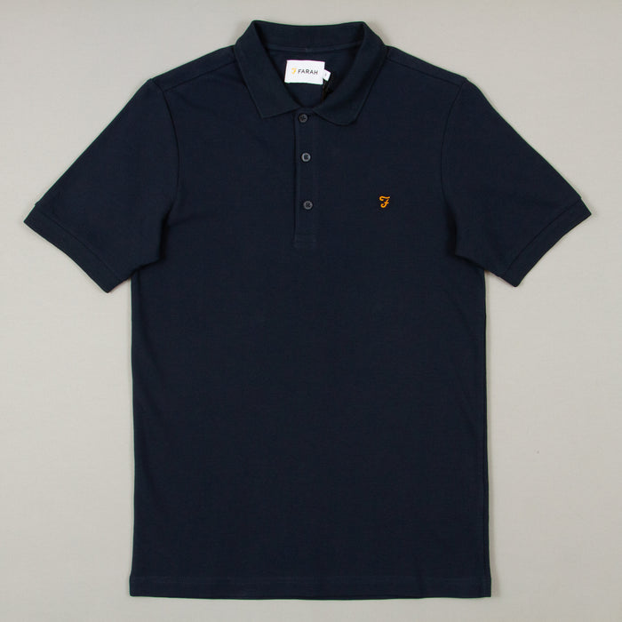 Blaney Short Sleeve Polo in NAVYFARAH - CACTWS