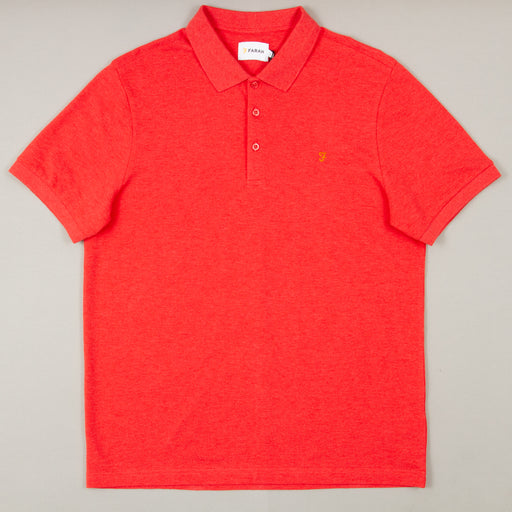 Blaney Short Sleeve Polo in RED COAT MARLFARAH - CACTWS