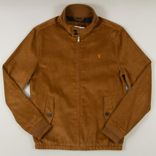 Bowie Cord Harrington Jacket in TRUFFLE