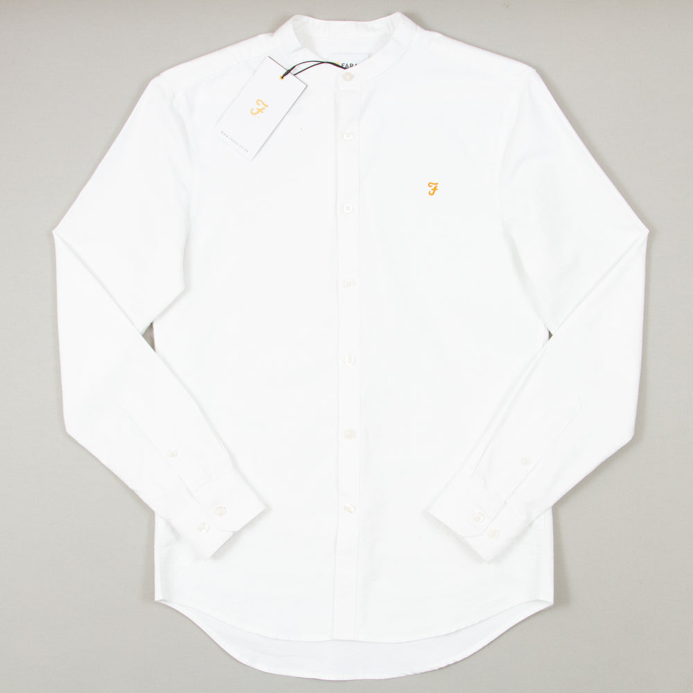 Brewer Grandad Shirt in WHITE