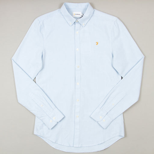 Brewer Slim Fit Long Sleeve Shirt in SKY BLUEFARAH - CACTWS