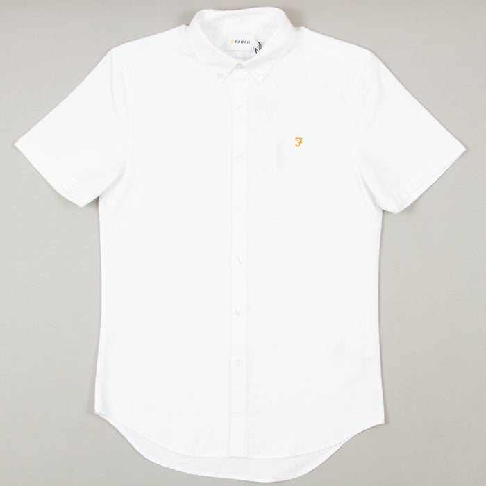 Brewer Slim Fit Short Sleeve Shirt in WHITE
