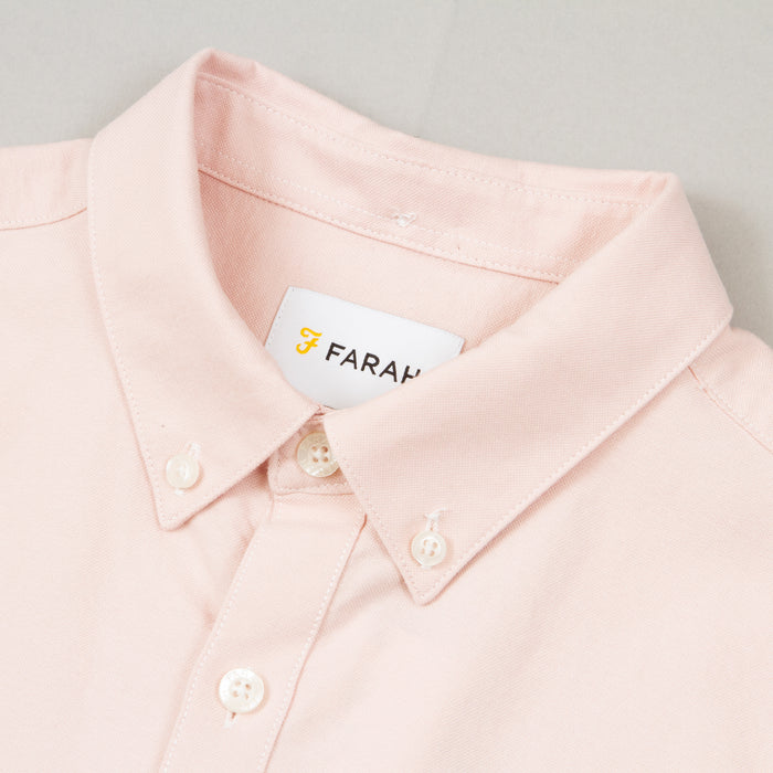 Brewer Slim Fit Short Sleeve Shirt in PINK
