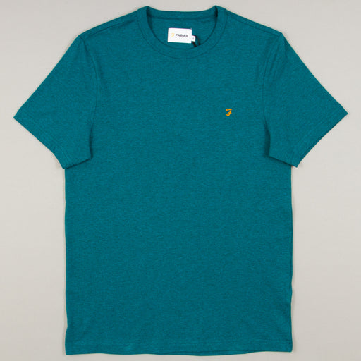 Dennis Slim T-Shirt in BRIGHT AQUA MARLFARAH - CACTWS