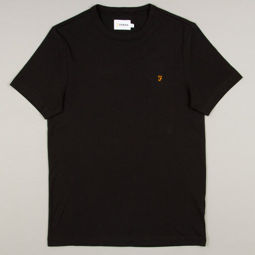 Dennis Slim T-Shirt in DEEP BLACKFARAH - CACTWS