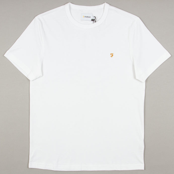 Dennis Slim T-Shirt in WHITEFARAH - CACTWS