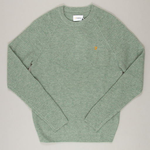 Garlan Lambswool Knit Jumper in WINTER BALSAM MARLFARAH - CACTWS