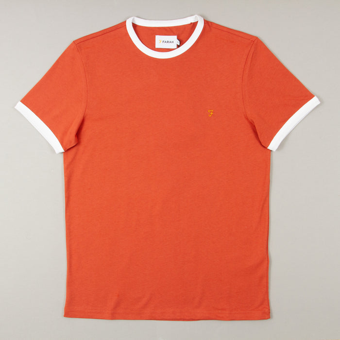 Groves Ringer Short Sleeve T-Shirt in JALAPENOFARAH - CACTWS
