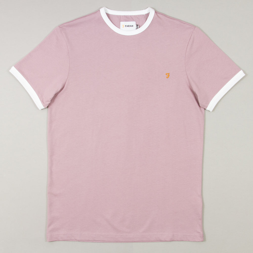Groves Ringer Short Sleeve T-Shirt in WISTERIAFARAH - CACTWS