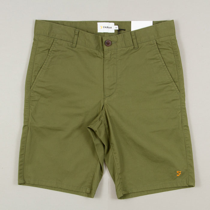 Hawk Chino Shorts in MILITARY GREENFARAH - CACTWS