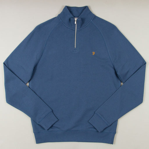 Jim Quarter Zip Sweater in COLD METAL
