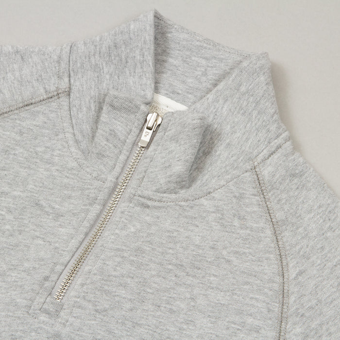 Jim Quarter Zip Sweater in LIGHT GREY MARLFARAH - CACTWS