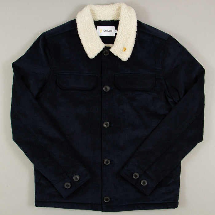 Kingsland Corduroy Jacket in TRUE NAVYFARAH - CACTWS