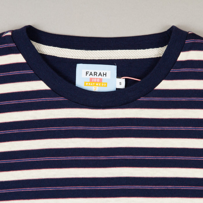 Mansour Short Sleeve T-Shirt in TRUE NAVYFARAH - CACTWS