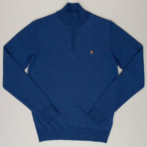 Redchurch Quarter Zip Pullover in BLUE PEONY MARLFARAH - CACTWS