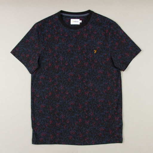 Willet Short Sleeve T-Shirt in DEEP BLACKFARAH - CACTWS