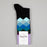 Faded Diamond Socks in PURPLE, BLUE & BLACK
