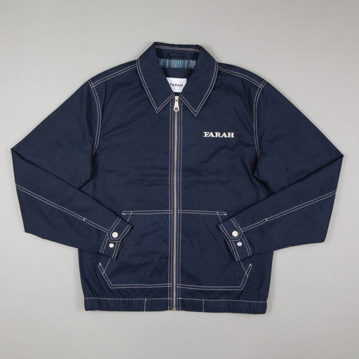 FARAH Fairbanks Blouson Jacket in TRUE NAVY