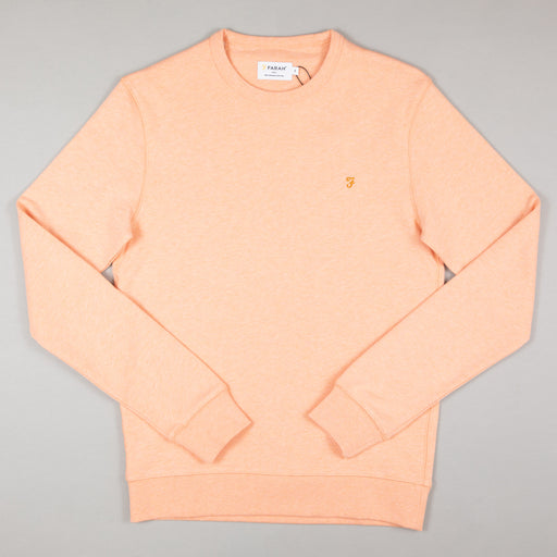 FARAH Tim Crew Neck Sweat in APRICOT MARL