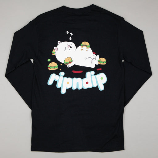 Fat Hungry Baby Long Sleeve Tee in BLACK