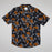 Gabrial Short Sleeve Animal Print Shirt in BLACK FISH PRINT