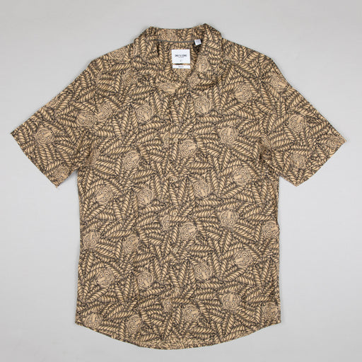 Gabrial Short Sleeve Animal Print Shirt in INCENSE