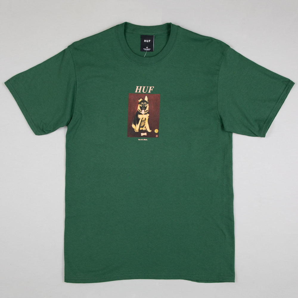 Good Boy Short Sleeve Tee in FOREST GREEN