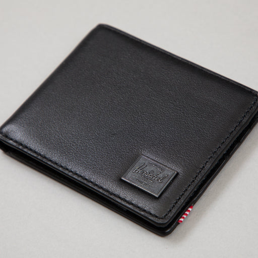 Hank Leather Wallet in BLACK