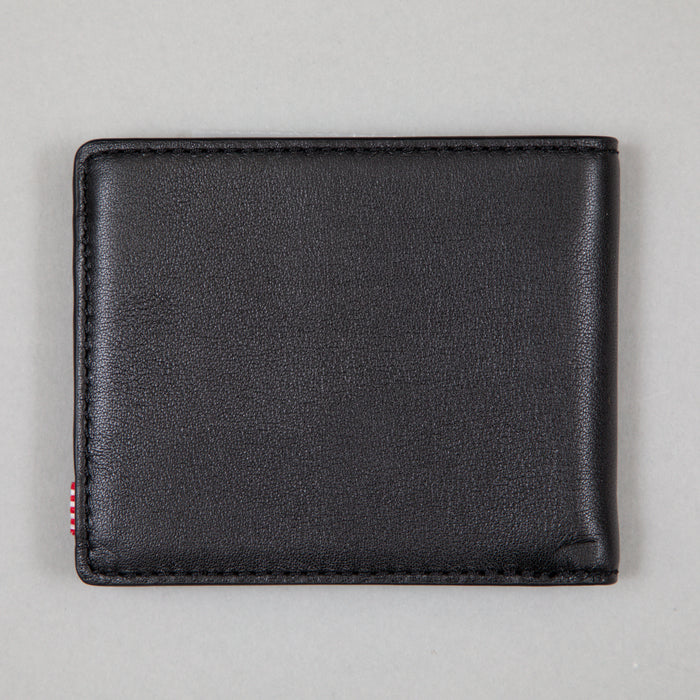 HERSCHEL Hank Leather Wallet in BLACK
