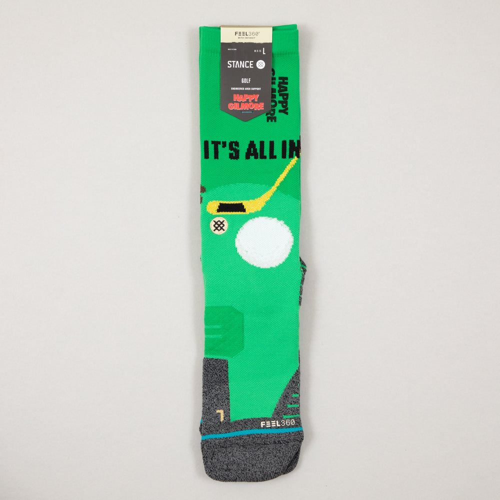 Happy Gilmore Hips Golf Socks in GREENSTANCE - CACTWS