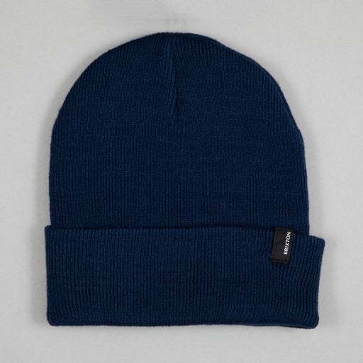 BRIXTON Harbor Watch Cap Beanie in WASHED NAVY
