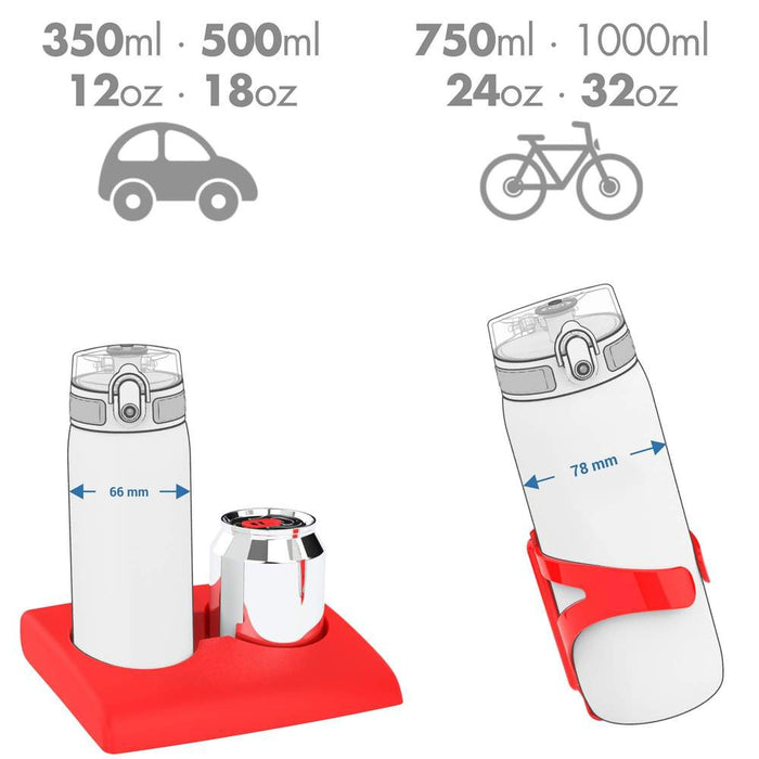 Ion8 Leak Proof 1 Litre Sports Water Bottle (with times to drink) in FROSTED ICE