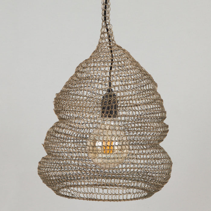 LIGHT & LIVING IKKIN Wire Hanging Pendant Lamp Shade in ANTIQUE BRONZE