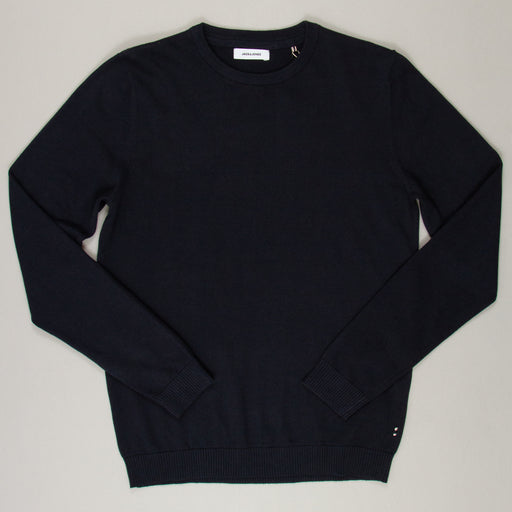 Basic Knit Crew Neck in NAVY BLAZERJACK & JONES - CACTWS